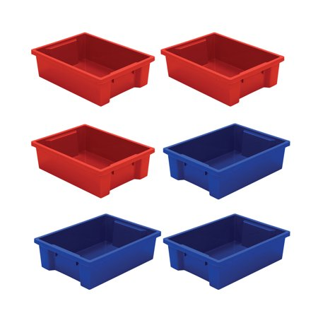 Best-Rite Best-Rite Tubs - set of 6 3 Red, 3 Blue for $<!---->
