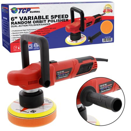 Tcp Global 6   Variable Speed Random Orbit Dual Action Polisher  Professional High Performance Buff  Polish   Detail Car