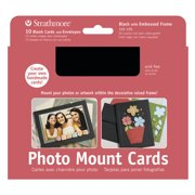 Strathmore Photo Mount Cards, 5in x 7in, Black Embossed, 10/Pkg.