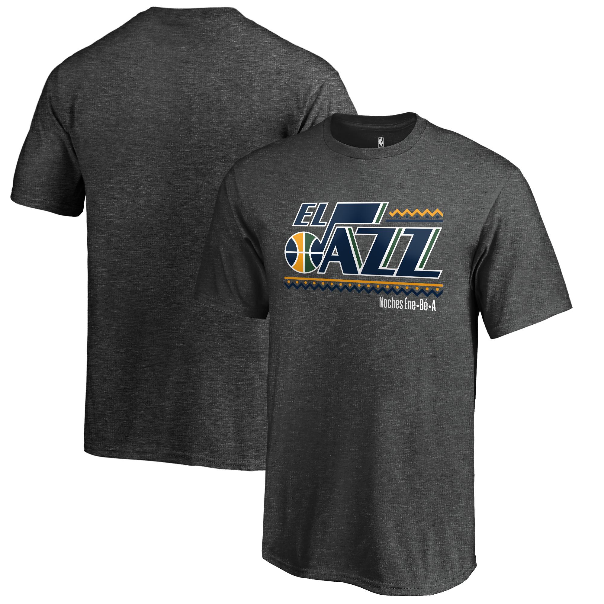 Utah Jazz Fanatics Branded Youth Noches Ene-Be-A T-Shirt - Heather Gray