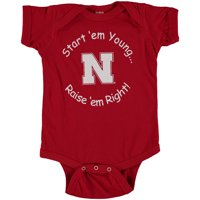 Nebraska Cornhuskers Newborn & Infant Start 'Em Young Bodysuit - Scarlet