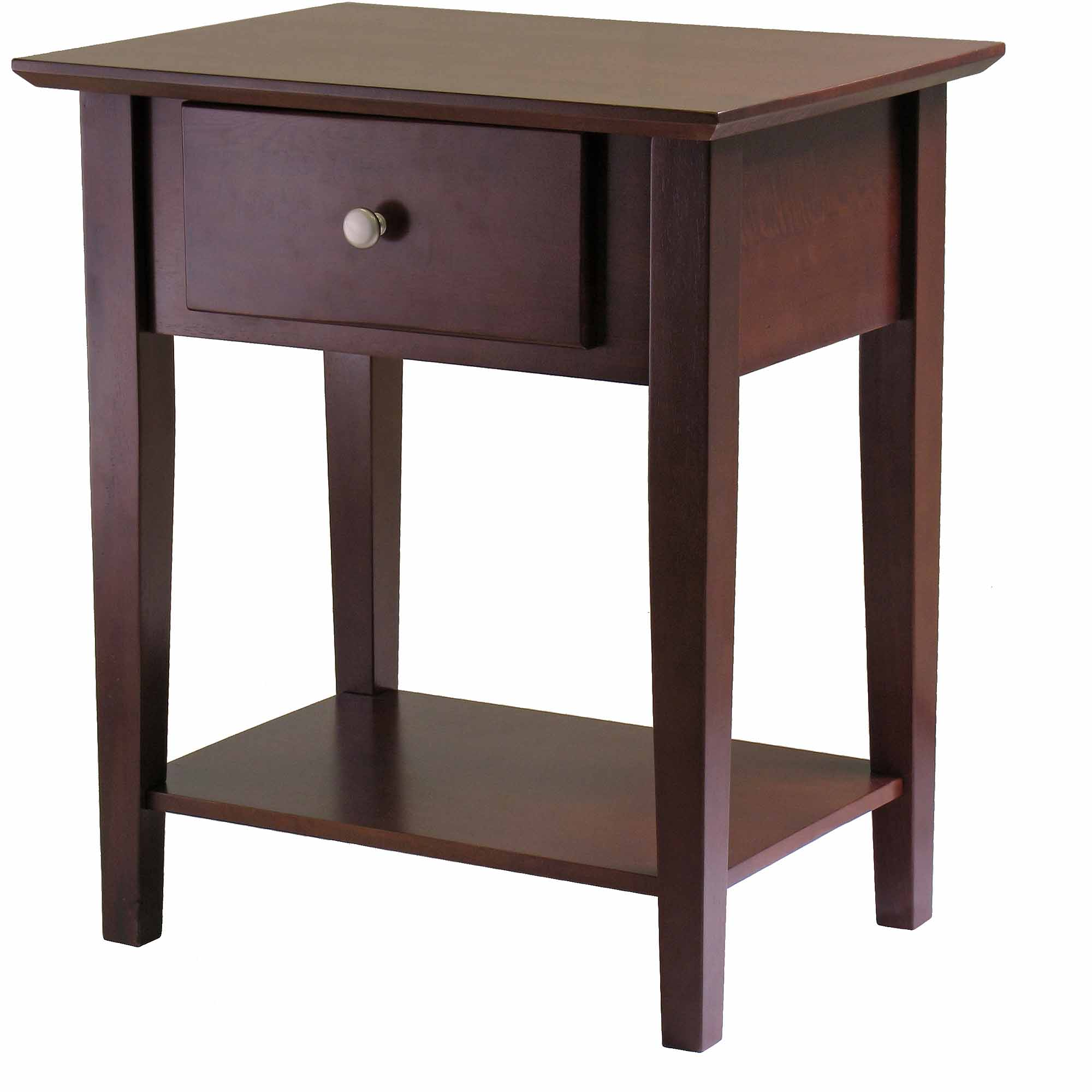 Winsome Shaker Nightstand with Drawer in Antique Walnut Finish