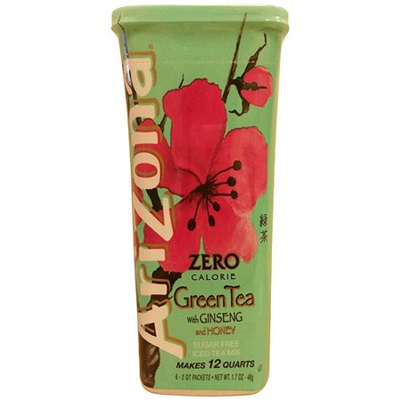 AriZona Thé de thé vert avec Ginseng, 1,7 oz (paquet de 12)