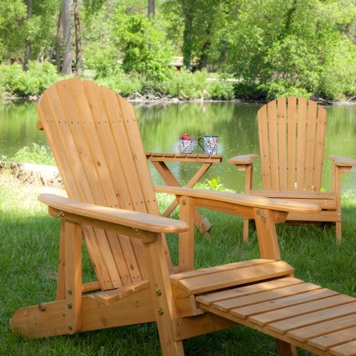 Big Daddy Reclining Adirondack Chair Set with FREE Side ...
