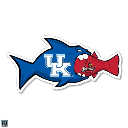 University of Kentucky vs University of Louisville Rivalfish Vinyl Decal (3