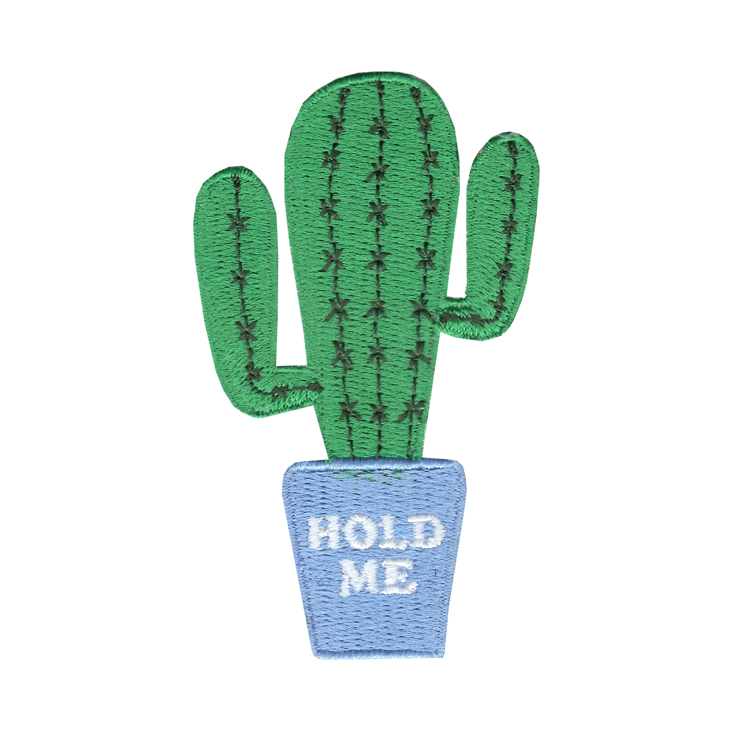 """""""Hold Me"""" Cactus Iron On Applique Patch"""