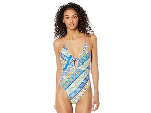 Nanette Lepore Womens Front Keyhole One Piece Swimsuit