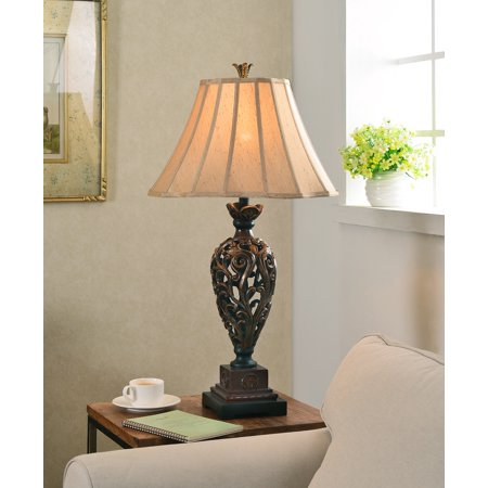 Kenroy Home 20180gr Iron Lace Table Lamp
