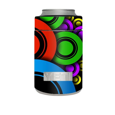 Skin Decal For Yeti Rambler Colster Cup / Awesome Circles (48k Cup)