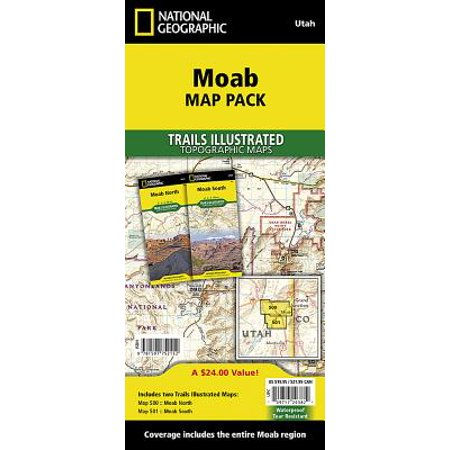 National geographic trails illustrated map: moab [map pack bundle] - folded map: