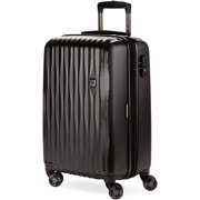 """SWISSGEAR 20"""" Energie USB Port PolyCarbonate Hardside Carry On Suitcase, Pull Up to Your Next Destination, Black"""