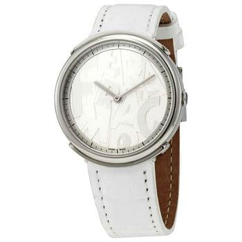 Salvatore Ferragamo Logomania Quartz White Dial Ladies Watch