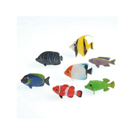 - Plastic Tropical Aquatic Sea Fish Miniature Animals 12 Pack
