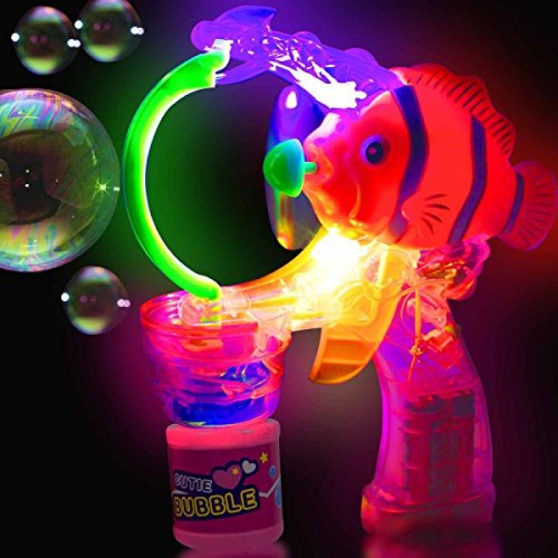 Clown Fish LED And Light   Up Bubble Gun