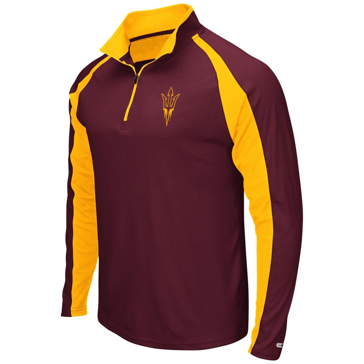 "Arizona State Sun Devils NCAA ""Peterman"" 1/4 Zip Pullover Men's Wind Shirt"