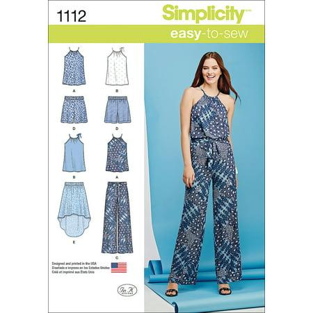Simplicity Misses' Size 12-20 Tops & Vests Pattern, 1 Each