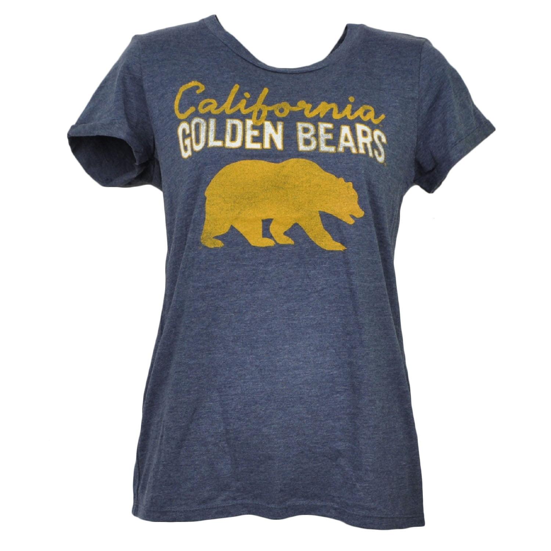 NCAA California Golden Bears Crew Neck Tshirt Tee Womens Distressed Blue XLarge