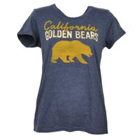 NCAA California Golden Bears Crew Neck Tshirt Tee Womens Distressed Blue XLarge