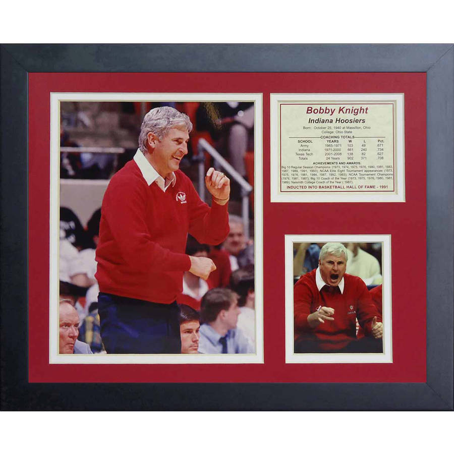 "Legends Never Die Bobby Knight Indiana Hoosiers Collage Photo Frame, 11"" x 14"""