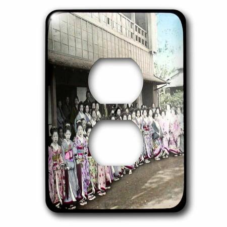 3dRose Vintage Geisha Girls 2 Plug Outlet Cover lsp 16119 6