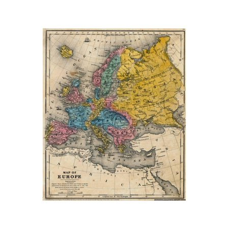 Map Of Europe Giclee Print