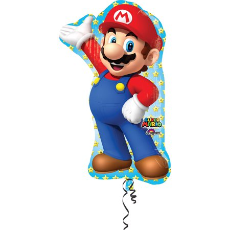 33? Mario Bros Shape Foil Balloon - Party Supplies for $<!---->