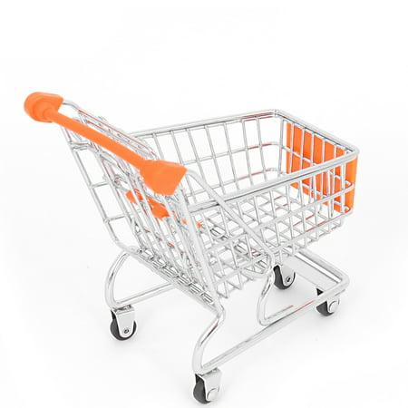 Stainless Steel Supermarket Mini-Shopping Handcart Shopping Utility Cart Mode Orange - image 2 of 3