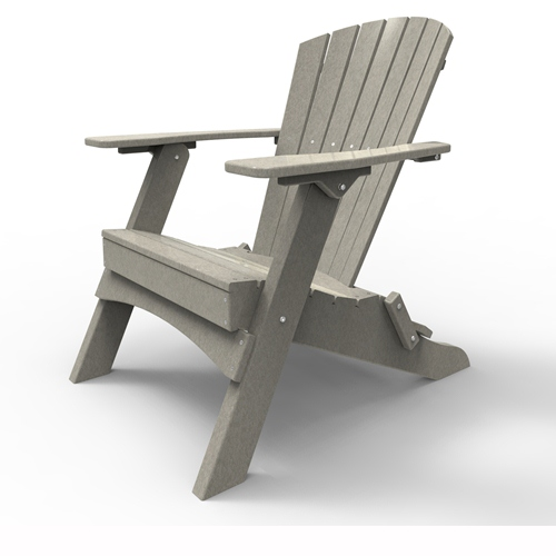 Folding Adirondack Chair by Malibu Outdoor - Hyannis, Light Gray