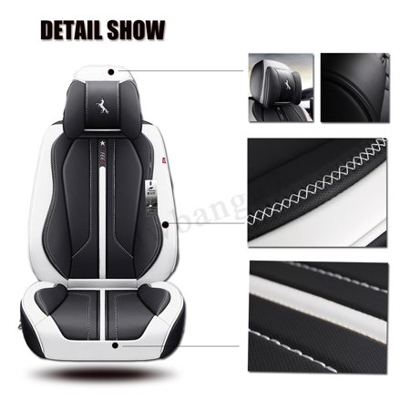 6D Deluxe 5 Seat Car Seat Cover Cushion Front Back Protector Surround Breathable  - image 4 de 5