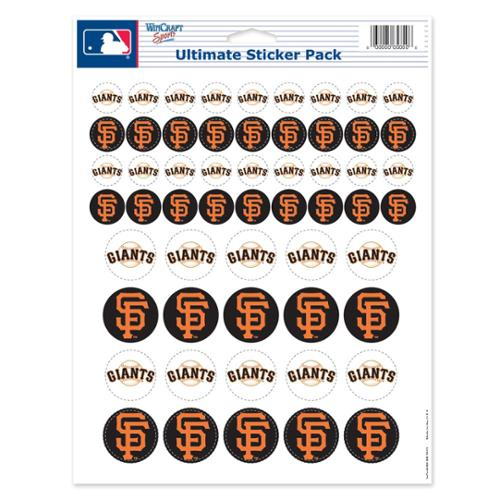 San Francisco Giants Official MLB 8.5 inch x 11 inch  Sticker Sheet by Wincraft