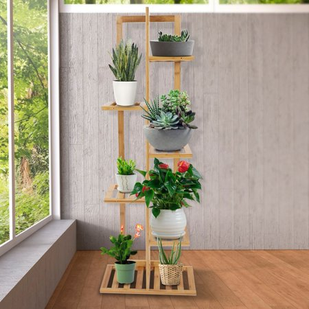 Herwey Wood Plant Stand Solid Flowers Plant Rack Shelves Display Shelf - image 3 of 8