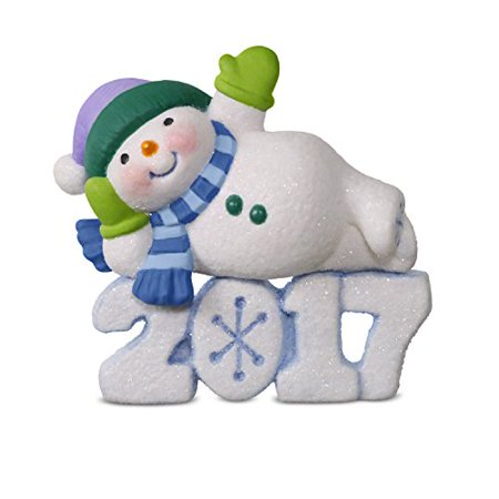 Hallmark Frosty Fun Decade #8 Lounging Snowman Keepsake Christmas Ornament