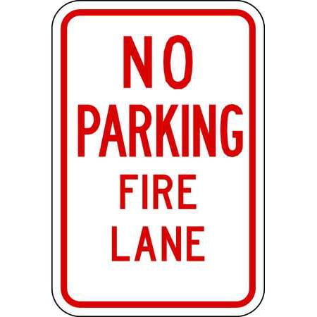 Lyle Lr7 22 12Ha Fire Lane Sign  18 X 12In  R Wht  Eng  Text
