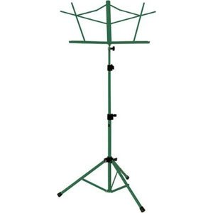 The Music People Tubular Tripod Base SHeet Music Stand (Green) by