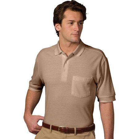 - Ed Garments Big And Tall Short Sleeve Pique Polo Pocket Shirt, TAN, 4XLT