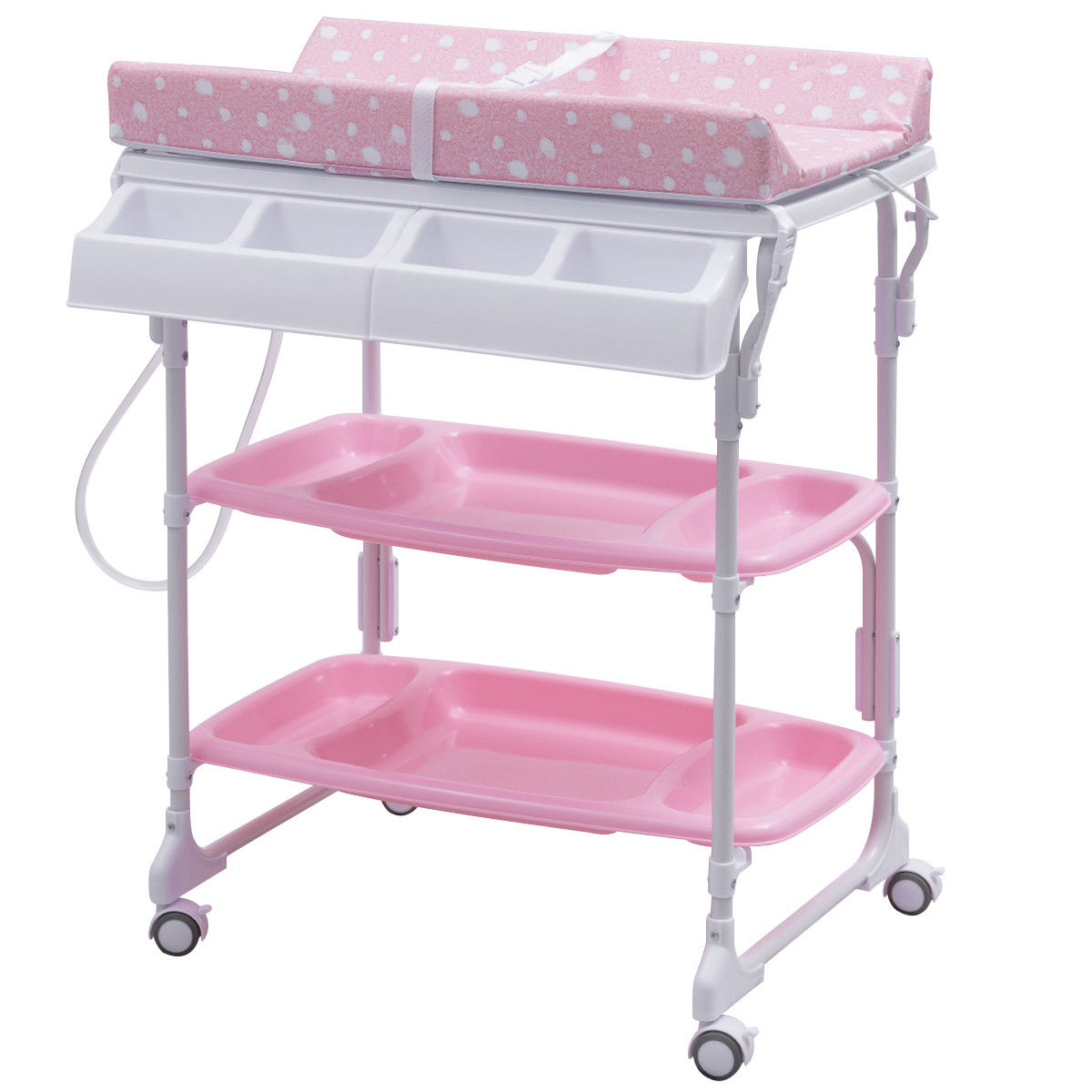 Costway Baby Infant Changing Table Diaper Station Organizer Storage w/ Tube - image 1 de 10