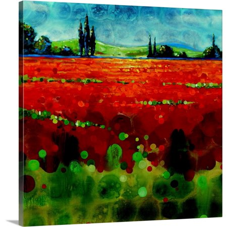 Great BIG Canvas | Selina Werbelow Premium Thick-Wrap Canvas entitled Spring Meadows