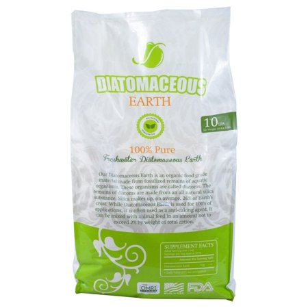 Diatomaceous Earth Food Grade (Fresh Water Type) 10lb Bag CODEX DE (Best Food Grade Diatomaceous Earth For Human Consumption)