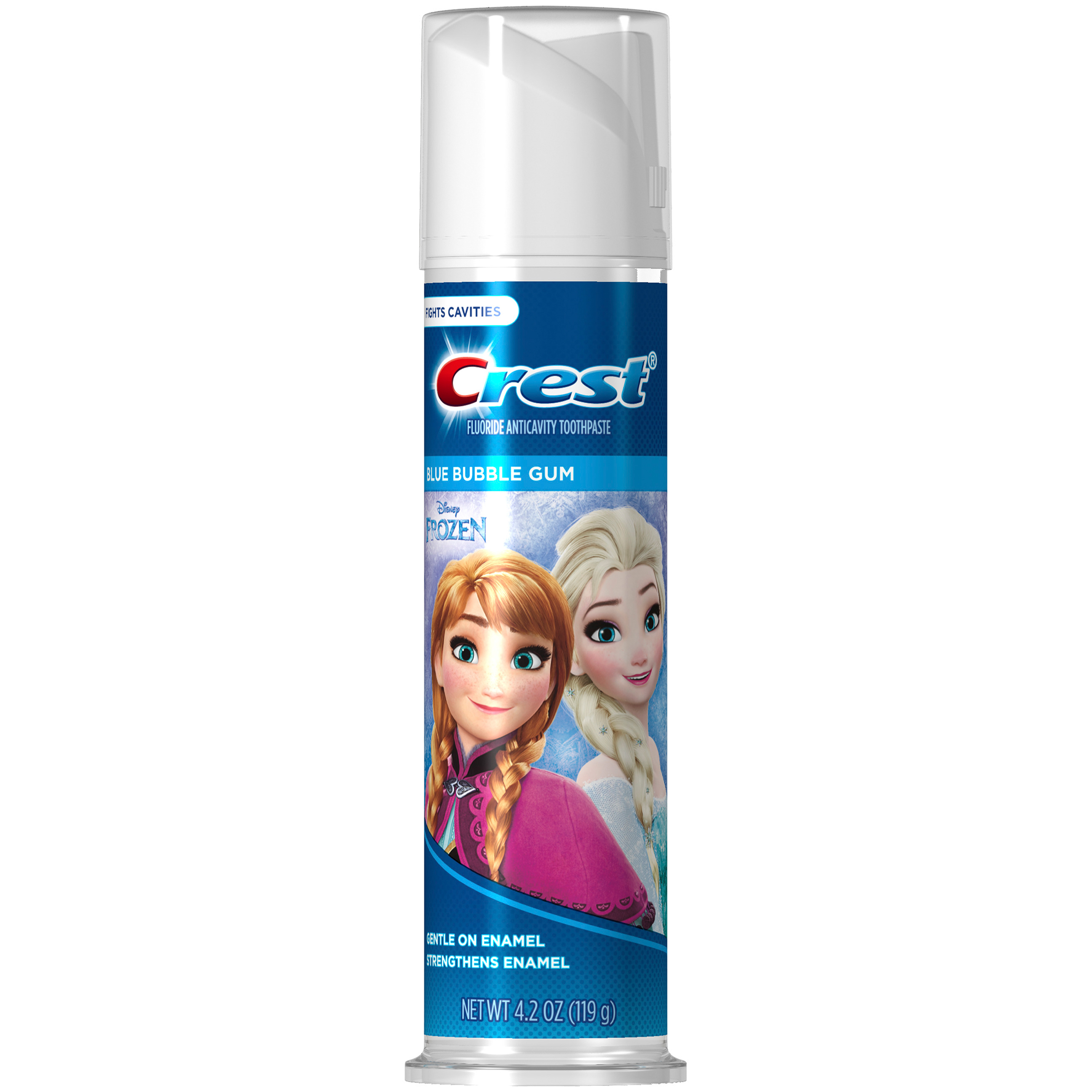 (2 pack) Crest Kid's Cavity Protection Toothpaste (for Kids and Toddlers 2+) Featuring Disney's Frozen, Blue Bubble Gum, 4.2 Ounce