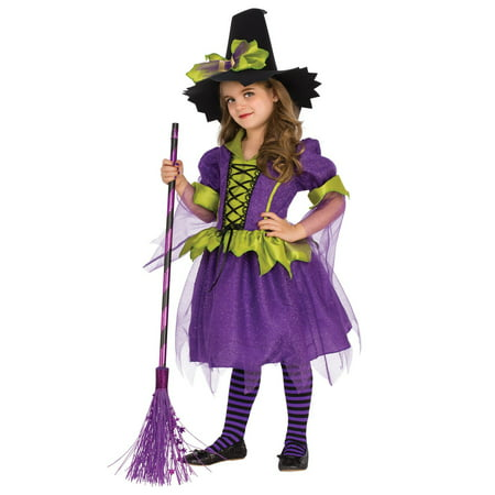 Girls Purple Moon Witch Costume