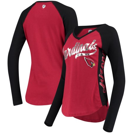 Arizona Cardinals Hands High Women's Stadium Long Sleeve T-Shirt - Cardinal