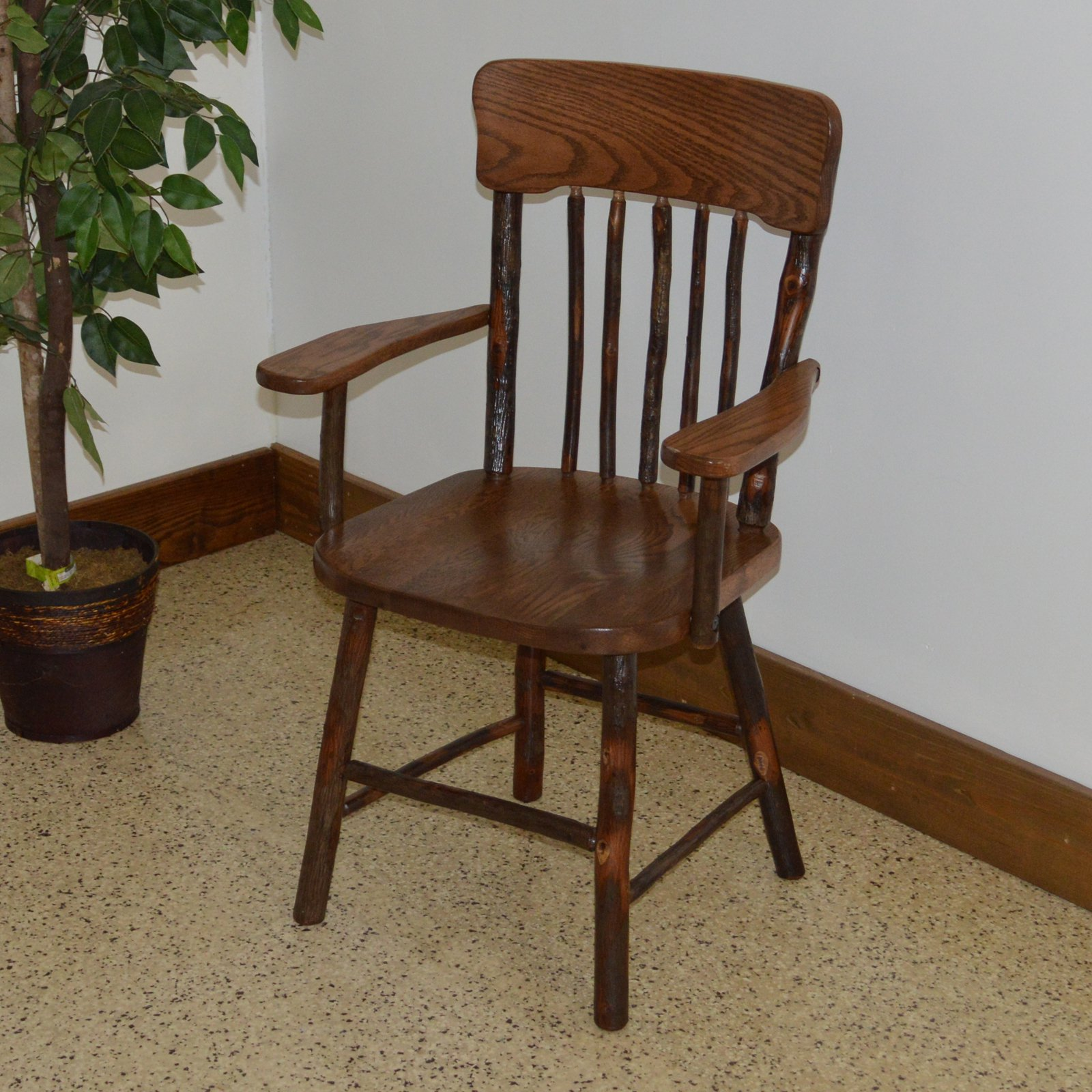 A & L Furniture Hickory Panel Back Dining Armchair by A&L Furniture