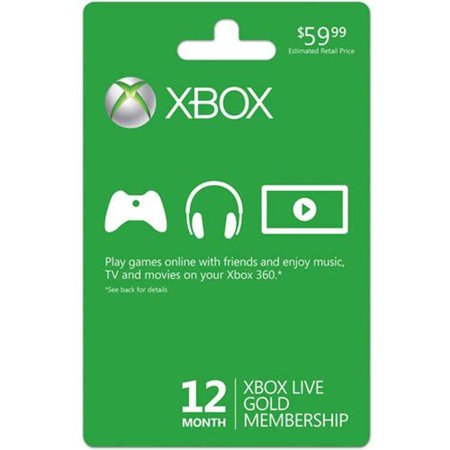 Microsoft Xbox LIVE 12 Month Gold Membership (Physical (Microsoft Xbox Live Vision Camera)