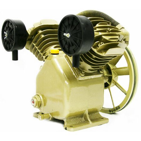 11.2 CFM 120 PSI TWIN CYLINDER AIR COMPRESSOR PUMP 3HP MOTOR V BELT GAS ELECTRIC