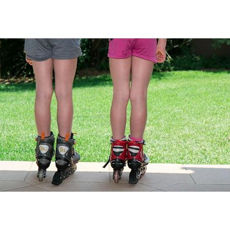 Laminated Poster Skating Fun Summer Kids Activities Roller Blades Poster Print 11 x 17 ()