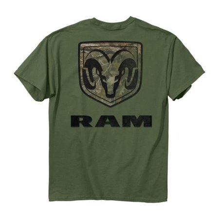 Buck Wear 25643 6 oz Mens Ram Camo Mark T-Shirt, Military Green - Large ()