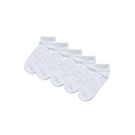 Unique Bargains Soft Cotton Athletic Ankle Socks 5-Pack (Junior & Women's)