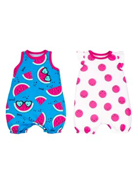 cf8865a0840e Blue Baby Girls Rompers   One-pieces - Walmart.com