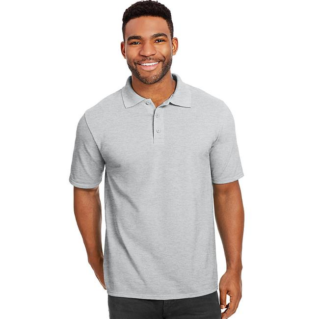 00 Mens X Temp with Fresh IQ Pique Polo Shirt, Light Steel - 4XL - image 1 de 1