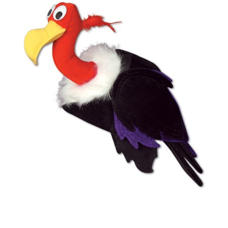 Unisex Animal Hat Funny Plush Vulture Party Hat Cap Costume Accessory